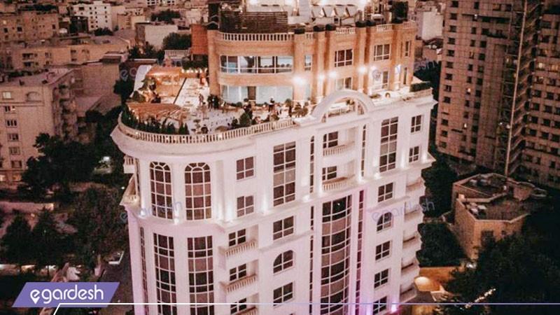 نمای ساختمان هتل ویستریا