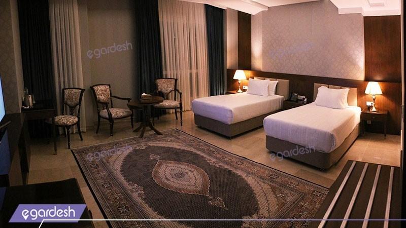 دو تخته توئین کینگ هتل ویستریا