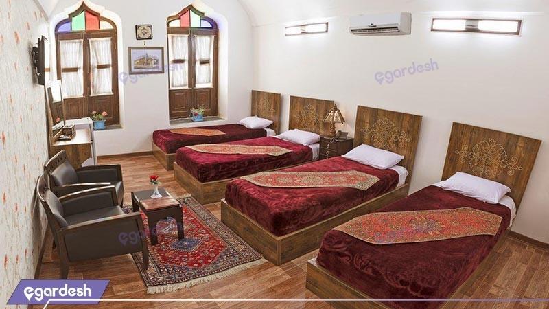 اتاق چهار تخته هتل فاضلی