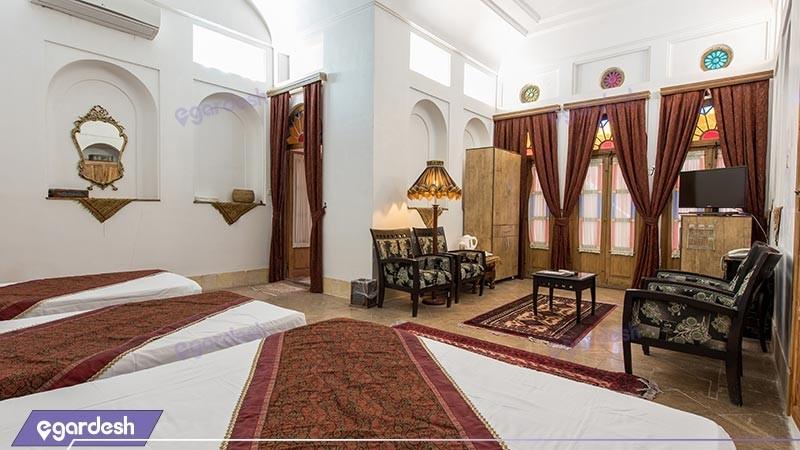 اتاق چهار تخته هتل سنتی مهر