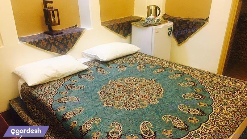 اتاق دو تخته دبل vip هتل باغ پهلوان پور