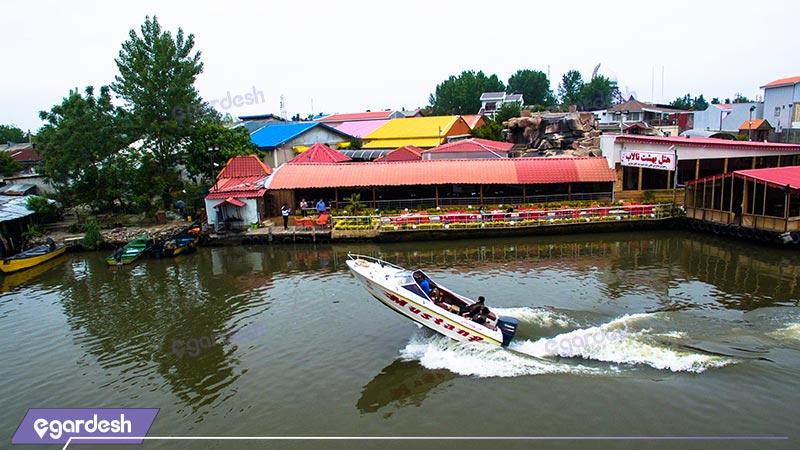 قایق سواری هتل بهشت تالاب