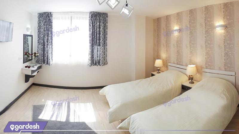اتاق چهارتخته هتل آفتاب