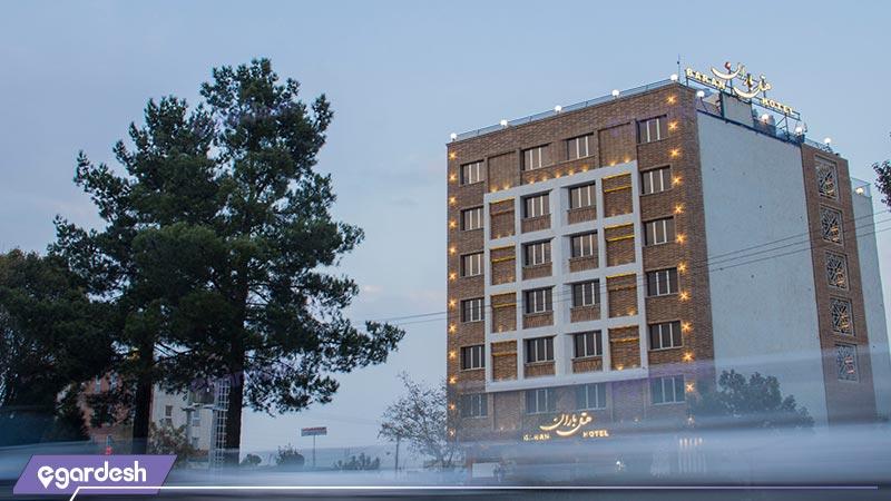 نمای ساختمان هتل باران