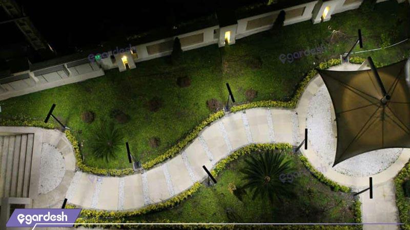 فضای بیرونی هتل ترنج  متین