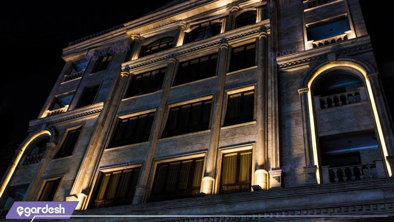 نمای هتل آپارتمان آنامیس