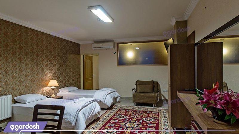 اتاق دو تخته ویژه هتل زنده رود