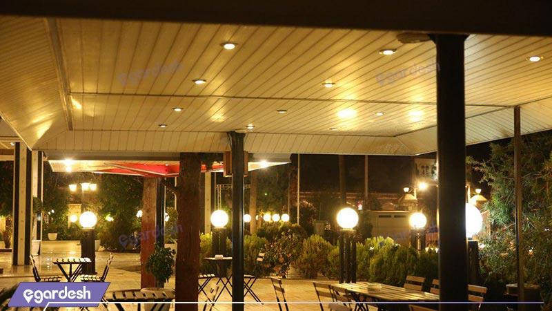 محوطه هتل پارک سعدی
