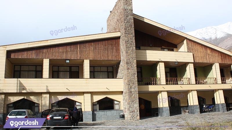 نمای ساختمان هتل جهانگردی شمشک