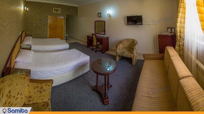 اتاق سه نفره هتل جهانگردی بسطام
