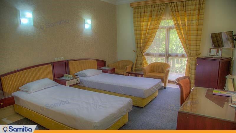 اتاق دو نفره هتل جهانگردی بسطام