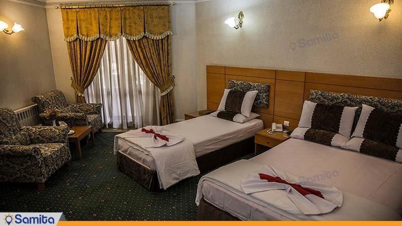 اتاق سه تخته هتل جهانگردی بیرجند