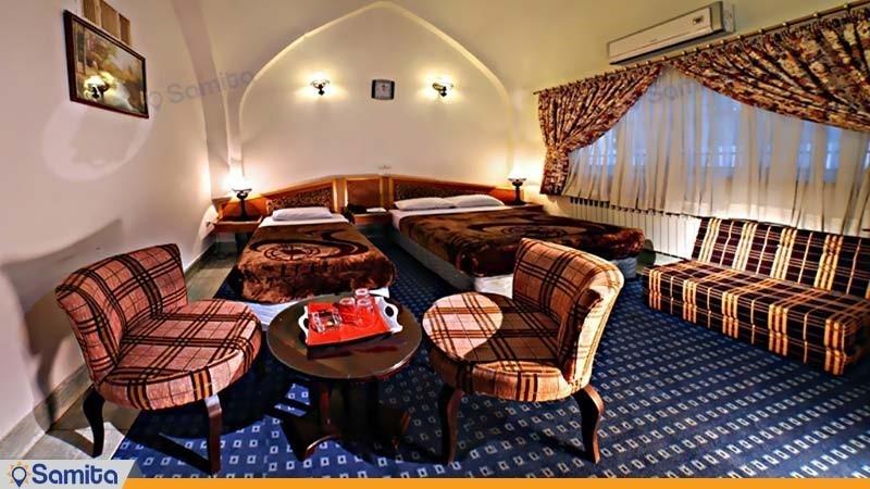 اتاق سه تخته هتل جهانگردی دامغان