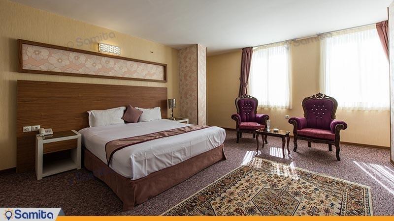اتاق دو تخته طلایی هتل آوین