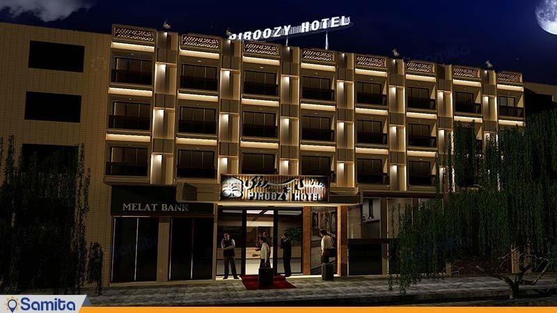 نمای ساختمان هتل پیروزی