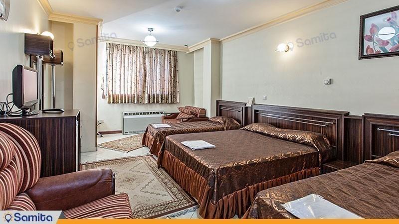 اتاق چهار تخته هتل جهانگردی ماهان