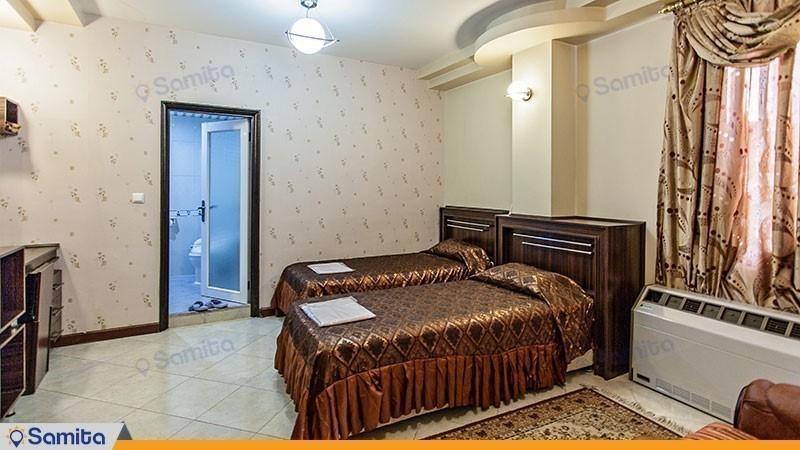 اتاق توئین هتل جهانگردی ماهان