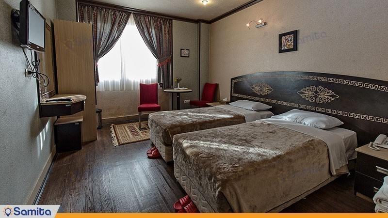 الغرفة المزدوجة ذات سريرين مفردين فندق سباهان