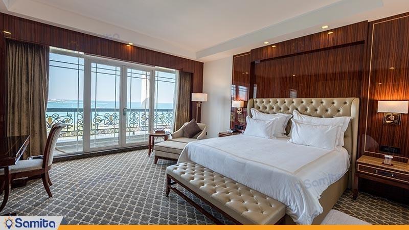 اتاق دو تخته لوکس رو به دریا هتل داریوش
