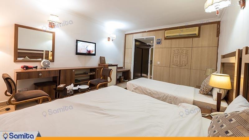 اتاق سه تخته هتل هلیا