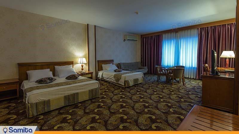 اتاق سه تخته رو به دریا هتل پارمیس
