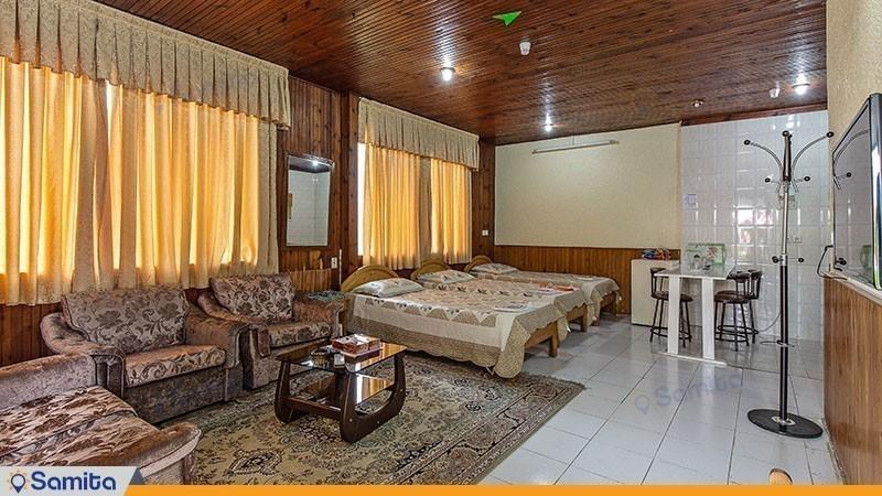 اتاق سه تخته مجموعه ویلاهای هتل شباویز