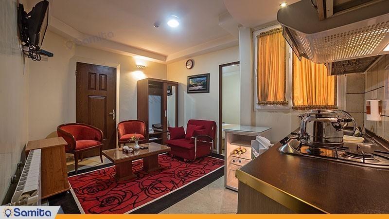 آپارتمان یک خوابه دو نفره هتل آپارتمان افرا