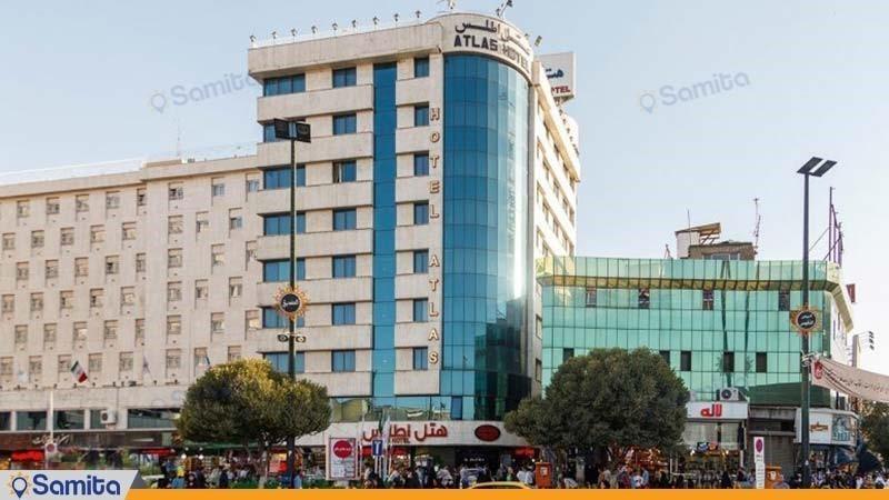 نمای ساختمان هتل اطلس مشهد
