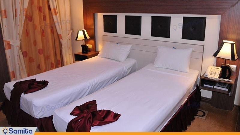 اتاق دو تخته هتل دیپلمات مشهد