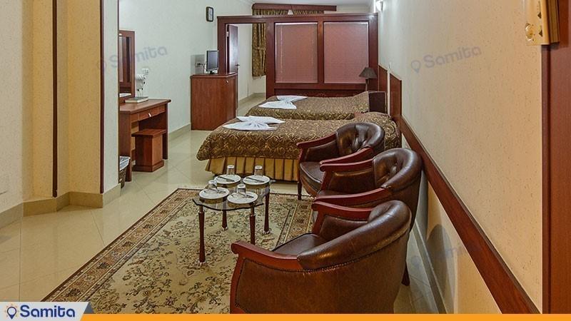 اتاق چهار تخته هتل هلیا مشهد