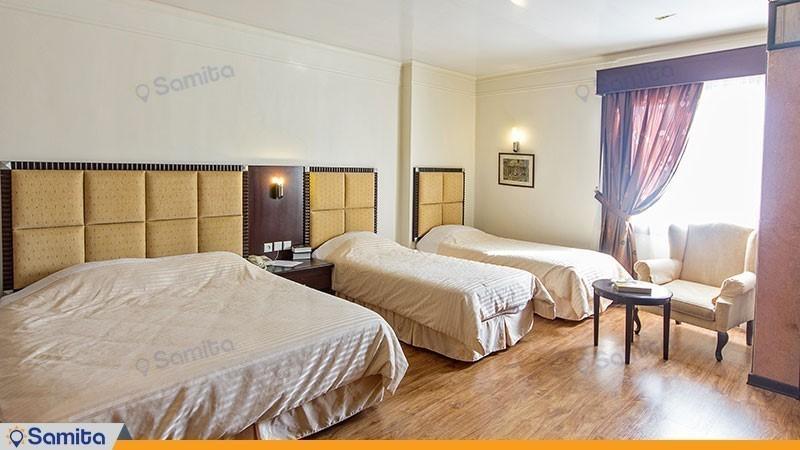 اتاق چهار تخته هتل ایران مشهد
