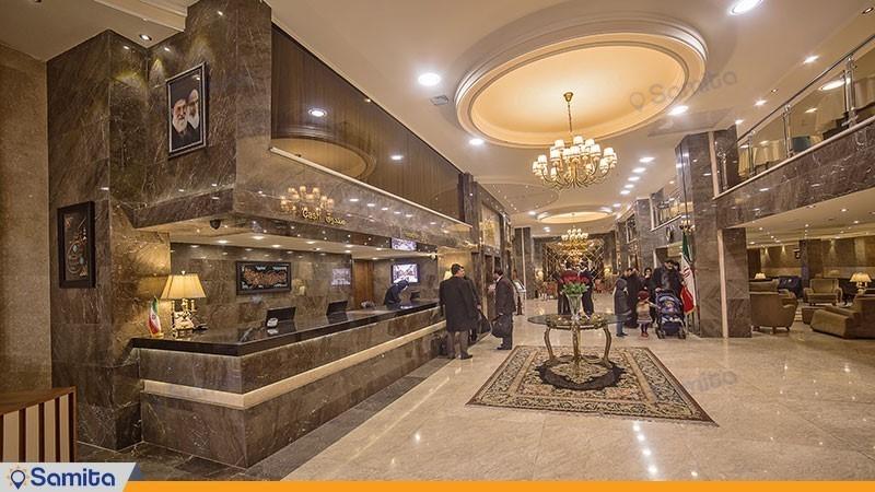 پذیرش هتل ایران زمین