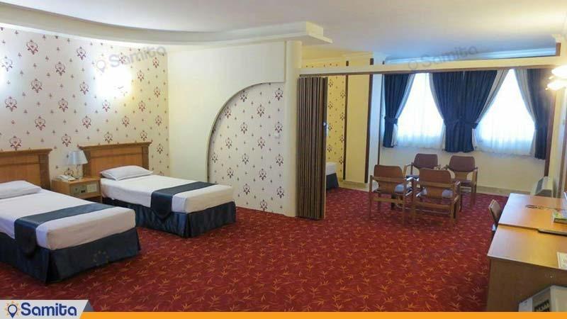 اتاق چهار نفره هتل جم