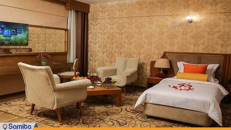 اتاق سینگل لوکس هتل پردیسان