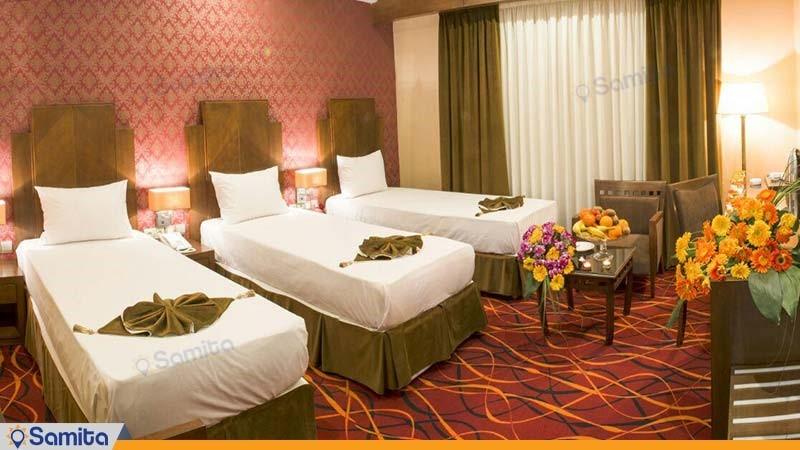 اتاق سه تخته هتل پارسیس