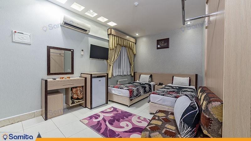اتاق دو تخته هتل آپارتمان قصر آیدین