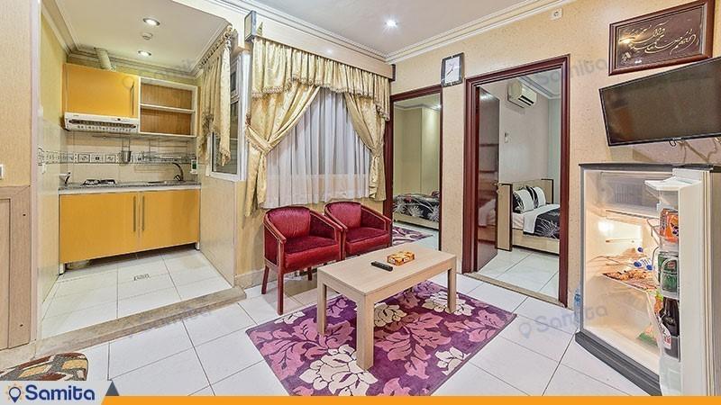 آپارتمان دو خوابه هتل آپارتمان قصر آیدین
