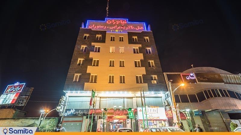 نمای ساختمان هتل آپارتمان نیاوران