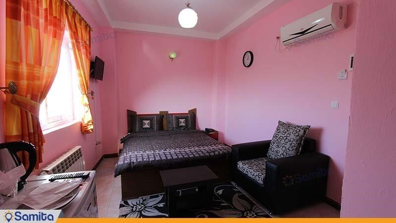 اتاق دبل با نمای تالاب هتل بهار رودسر