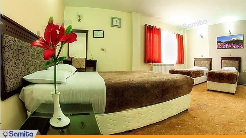 جناح بغرفة نوم واحدة تتسع لأربعة أشخاص فندق جهانكردي سنندج