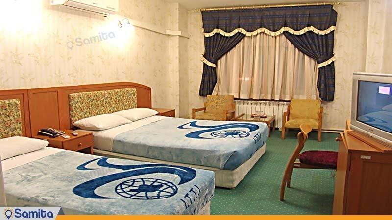 اتاق سه تخته هتل جهانگردی شاهرود