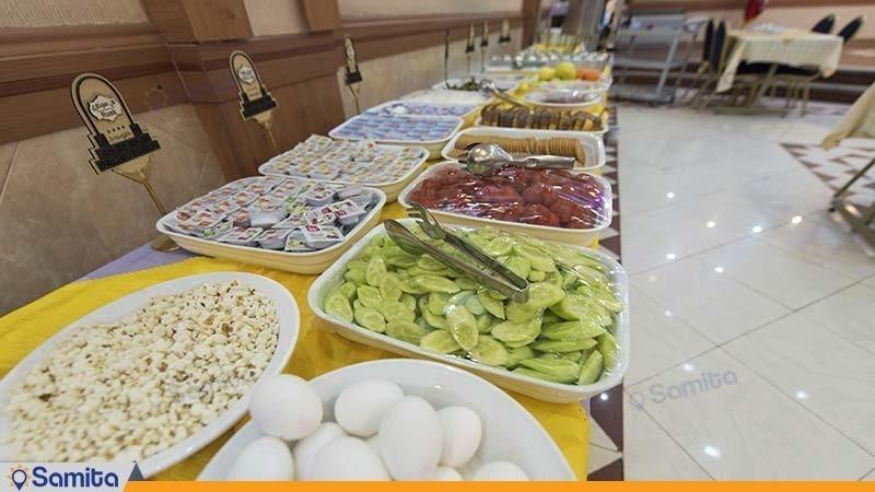 بوفه صبحانه هتل پارسیان شیراز