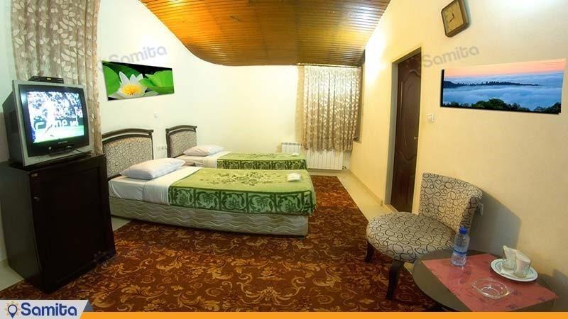 اتاق دو تخته مهمانسرای جهانگردی تاکستان
