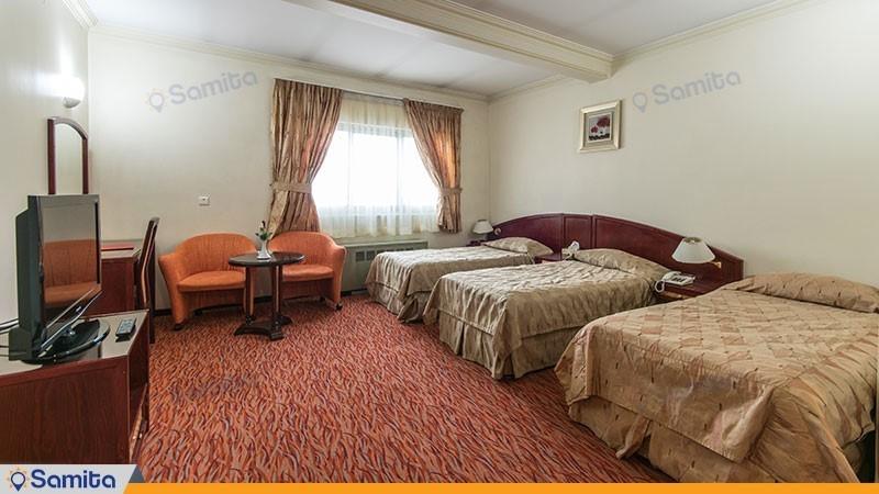 اتاق سه تخته هتل جهانگردی ارومیه