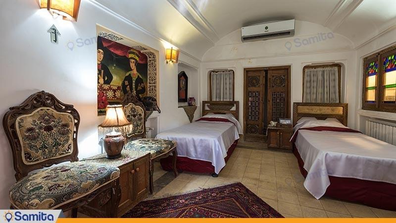 اتاق دو تخته توئین هتل سنتی فهادان