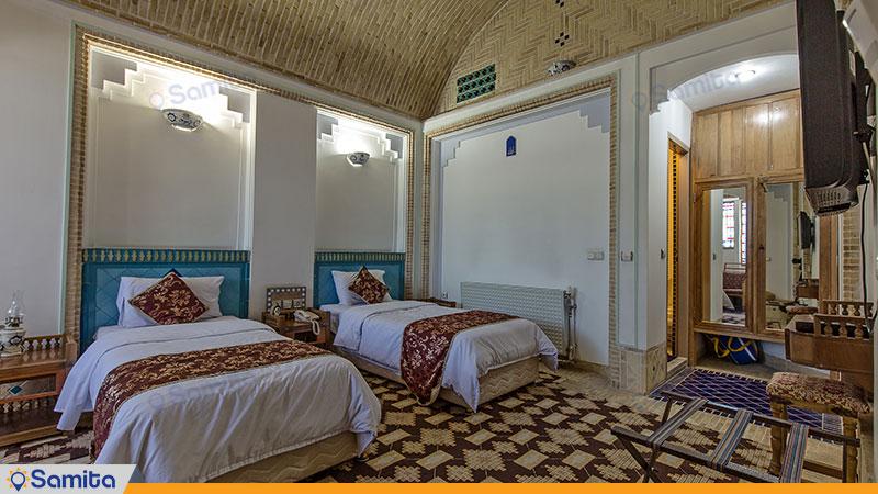 اتاق توئین هتل باغ مشیر الممالک
