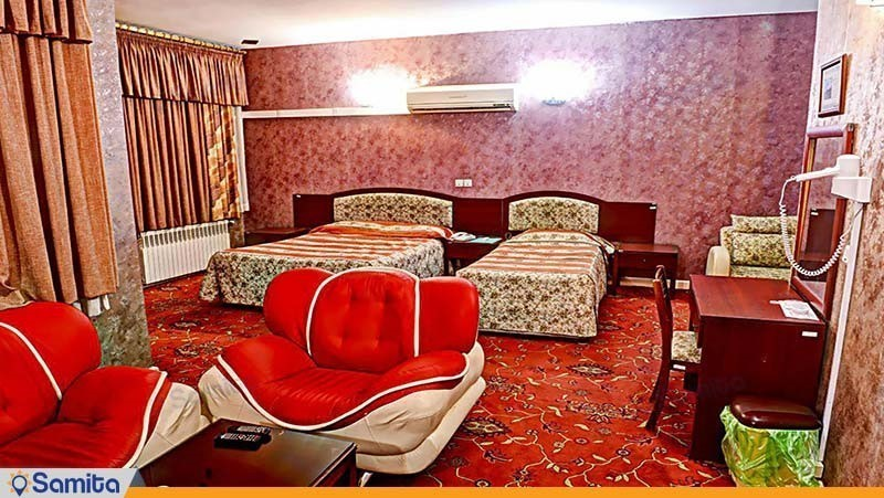 اتاق سه تخته هتل جهانگردی زاهدان